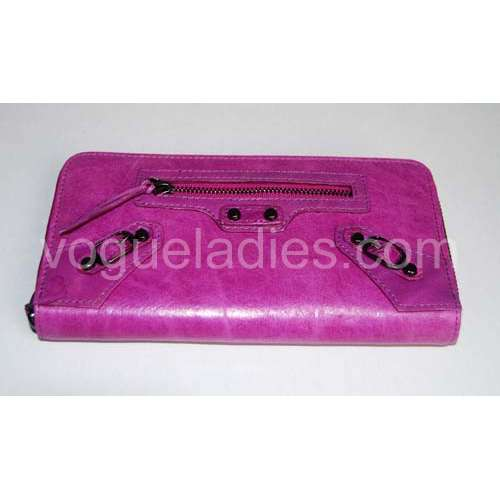 Balenciaga Giant Compagnon Wallet in Purple 09005