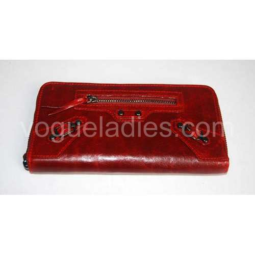 Balenciaga Giant Compagnon Wallet in Red 09005