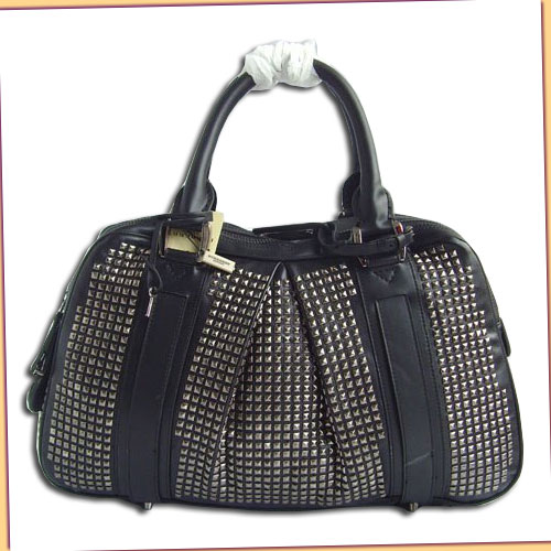 Burberry Metallic Shopper Large_Black Leather_400953