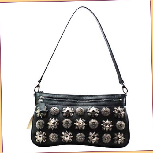 Burberry Warrior Evening Bag_Black Leather_9554