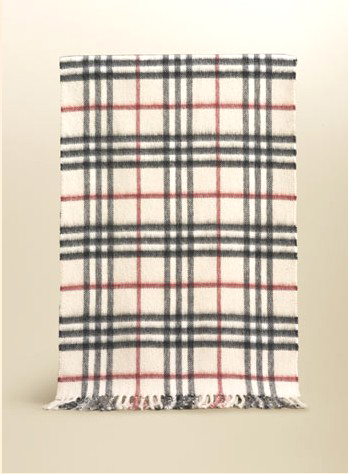 Burberry Check Cashmere Scarf_Ivory_BUC05