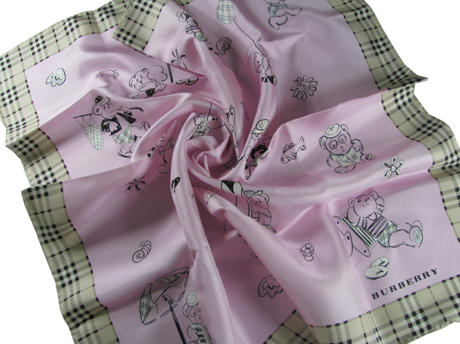 Burberry Silk Scarf_Pink_BUS02