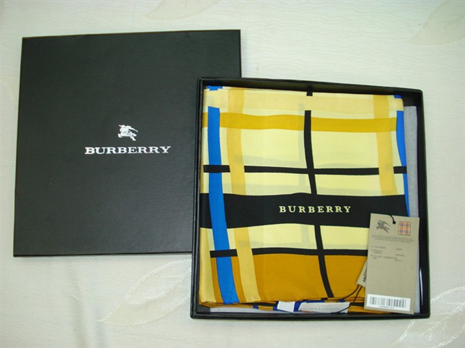 Burberry Silk Scarf_Yellow_BUS90422