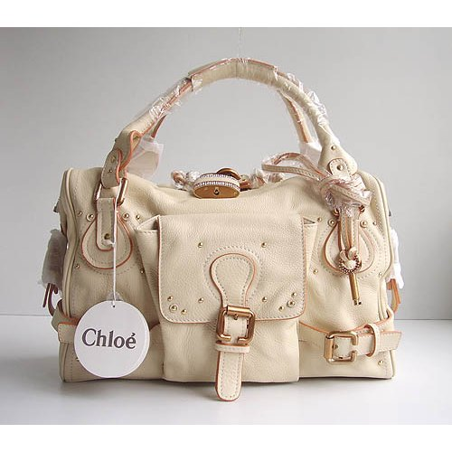 Chloe Large Paddington_Sparkle Lock_Beige Leather_50811