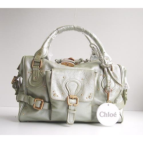 Chloe Large Paddington_Sparkle Lock_Pearl Green Leather_50811