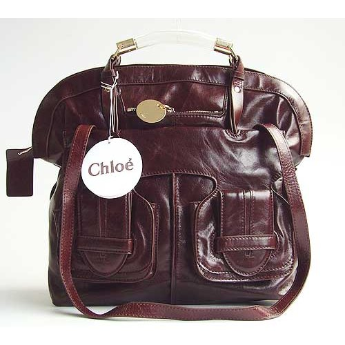 Chloe Saskia Bag_Coffee Leather_508213
