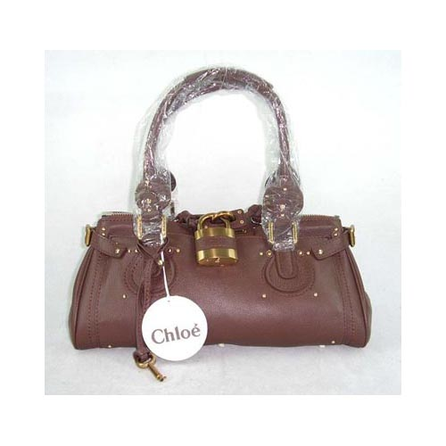 Chloe Paddington_Golden Lock_Coffee Leather_50831