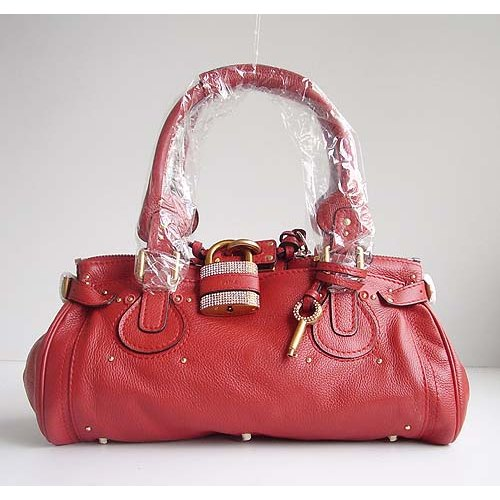 Chloe Paddington_Sparkle Lock_Red Leather_50831