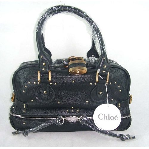 Chloe Paddington Bag_Golden Lock_Black Leather_8366