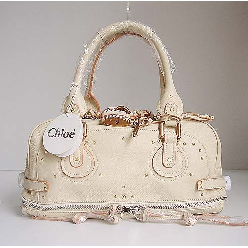 Chloe Paddington Bag_Sparkle Lock_Beige Leather_8366