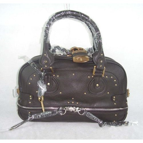 Chloe Paddington Bag_Golden Lock_Chocolate Leather_8366