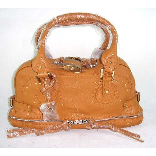 Chloe Paddington Bag_Golden Lock_Camel Leather_8366