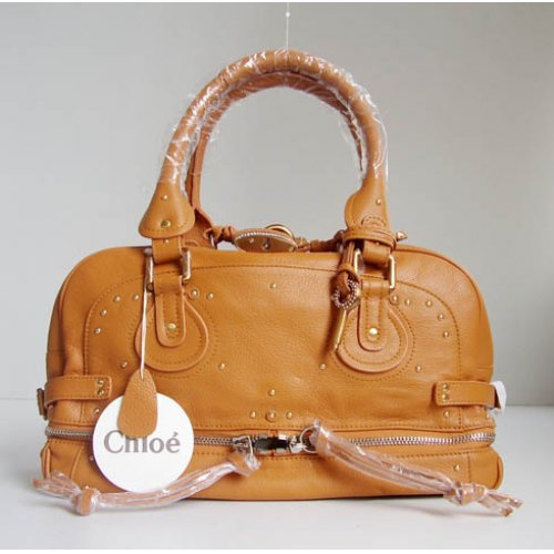 Chloe Paddington Bag_Sparkle Lock_Camel Leather_8366