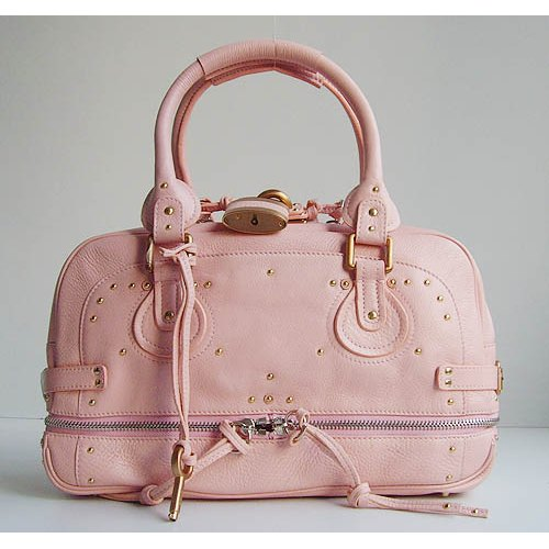 Chloe Paddington Bag_Golden Lock_Pink Leather_8366