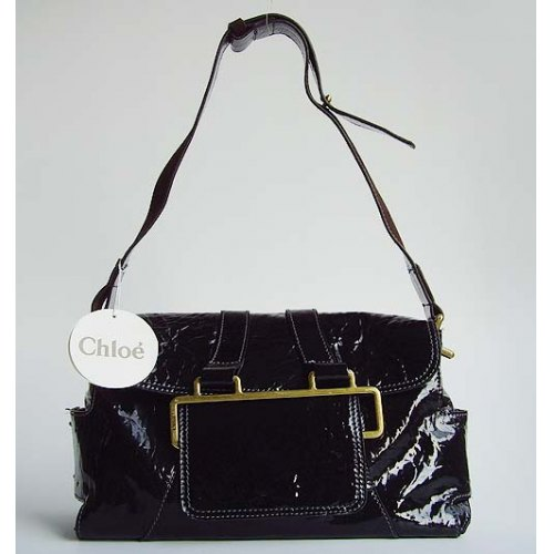 Chloe Beata Patent Shoulder Bag_Black Leather_9604