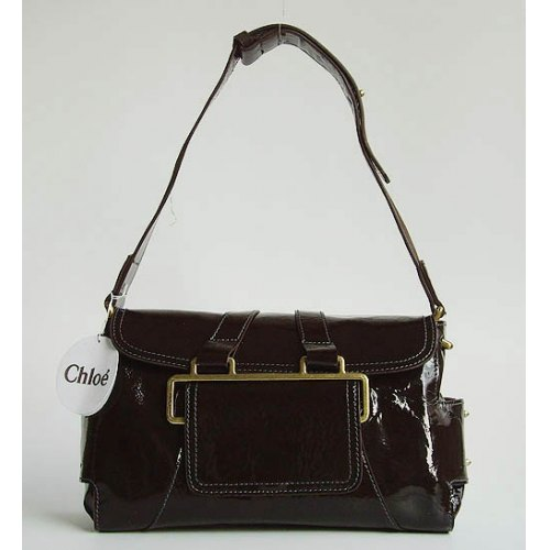 Chloe Beata Patent Shoulder Bag_Coffee Leather_9604