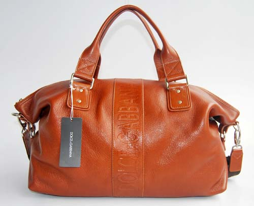 Dolce & Gabbana Handbag_Brown Leather_2980