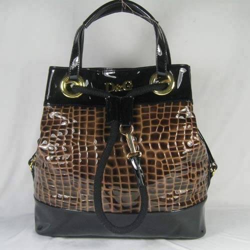 Dolce & Gabbana Oversized Nautical Tote L_Chocolate Leather_3028