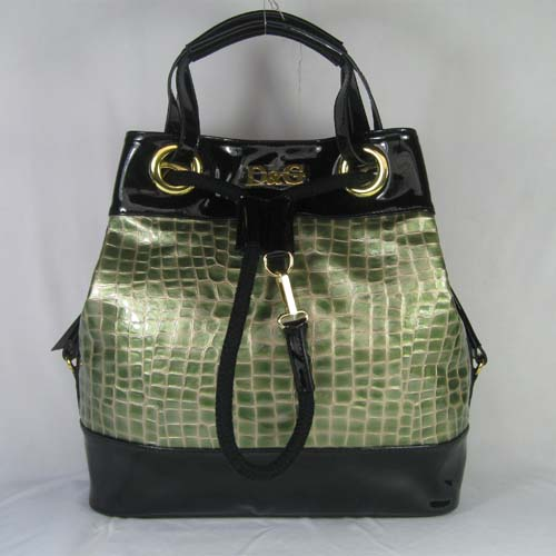 Dolce & Gabbana Oversized Nautical Tote L_Green Leather_3028
