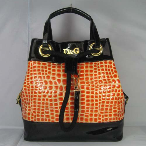 Dolce & Gabbana Oversized Nautical Tote L_Orange Leather_3028