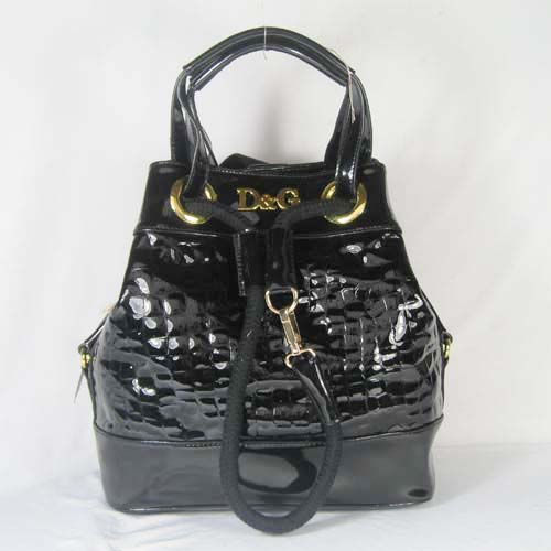 Dolce & Gabbana Oversized Nautical Tote S_Black Leather_3028