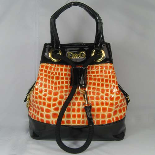 Dolce & Gabbana Oversized Nautical Tote S_Orange Leather_3028