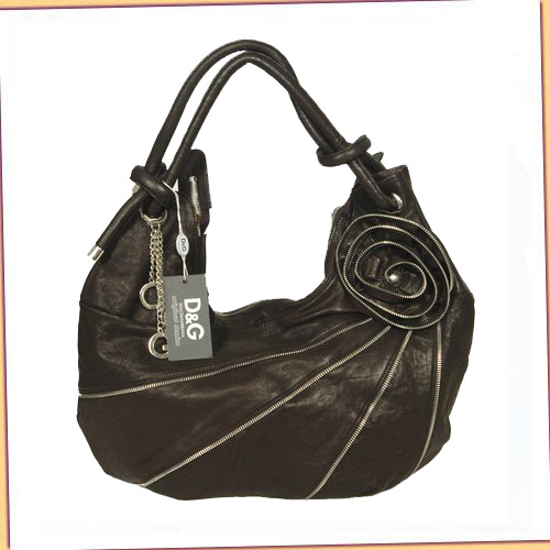 D & G Rose Hobo_Black Calfskin_8536