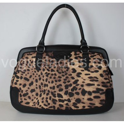 D & G New Bag in Leopard Fabric and Black Leather 29175