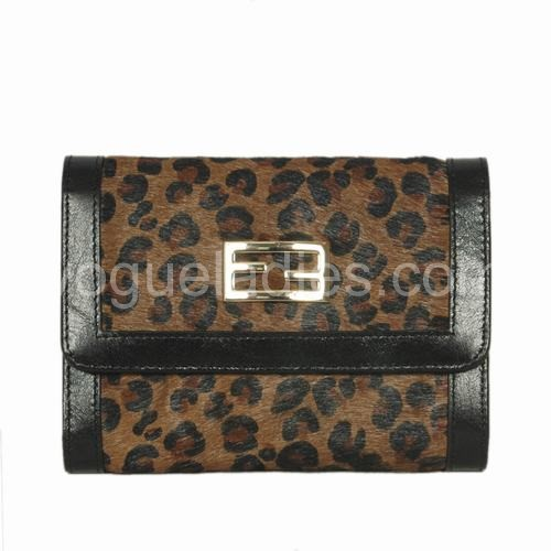 Fendi Coffee Horse Hair Wallet 120311