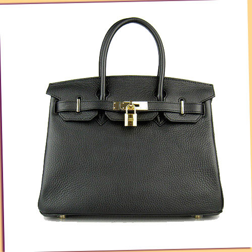 Hermes Birkin 30cm_Black Togo Leather_Gold Metal