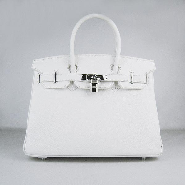 Hermes Birkin 30cm_White Togo Leather_Silver Metal