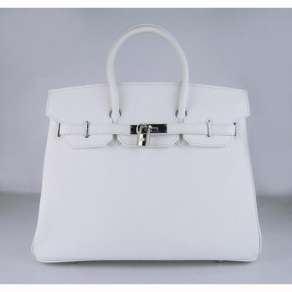 Hermes Birkin 35cm_White Togo Leather_Silver Metal