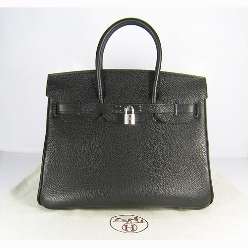 Hermes Birkin 35cm_Black Togo Leather_Silver Metal