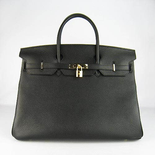 Hermes Birkin 40cm_Black Togo Leather_Gold Metal