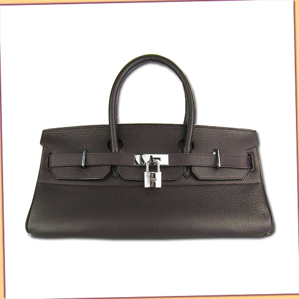 Hermes Birkin 42cm Dark Coffee Togo Leather_Silver Metal