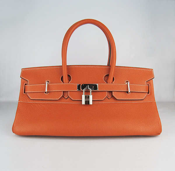 Hermes Birkin 42cm Orange Togo Leather_Silver Metal