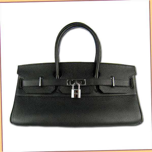 Hermes Birkin 42cm Black Togo Leather_Silver Metal