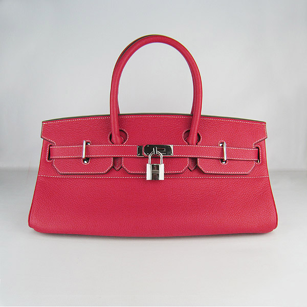Hermes Birkin 42cm Red Togo Leather_Silver Metal