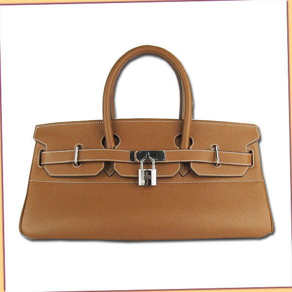 Hermes Birkin 42cm Light Coffee Togo Leather_Silver Metal