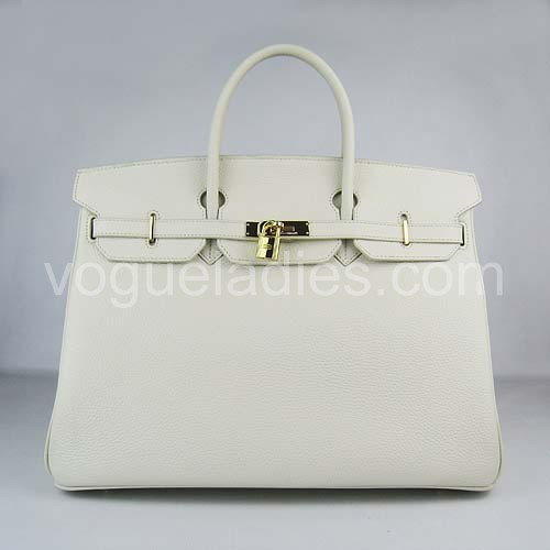 Hermes Birkin 40cm Cream Togo Leather Golden Metal