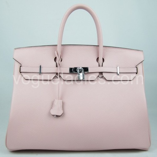 Hermes Birkin 40cm_Pink Togo Leather_Silver Metal