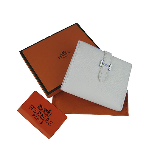 Hermes Wallet_White_Togo Leather
