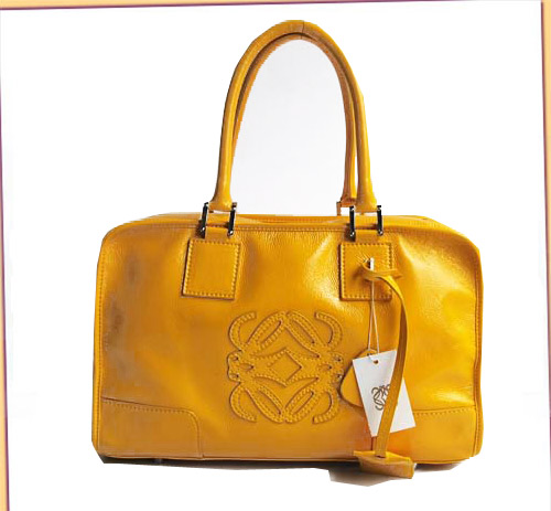 Loewe Amazona Bag_Yellow_Patent Leather_D141