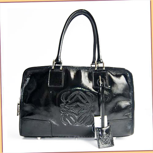 Loewe Amazona Bag_Black_Patent Leather_D141