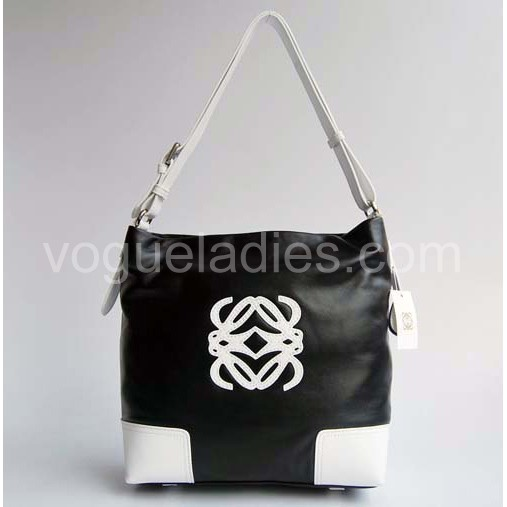 Loewe Pocket Mini Bag_Black&White Leather_316