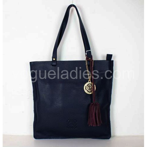 Loewe Tote Leather Handbags Blue 81128