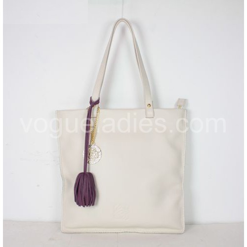 Loewe Tote Leather Handbags Cream 81128
