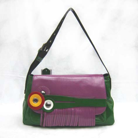 Marni New Bag_Green&Purple_Real Leather_5011