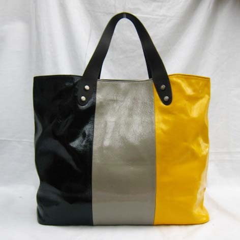 Marni New Bag_Black,Grey and Yellow_Real Leather_5023S