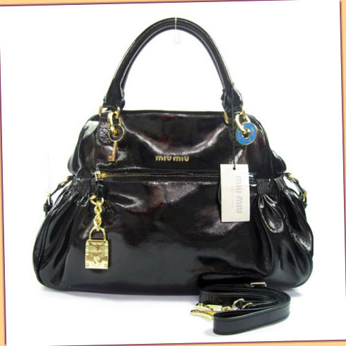 Miu Miu Nappa Charm Bag_Black Leather_68028